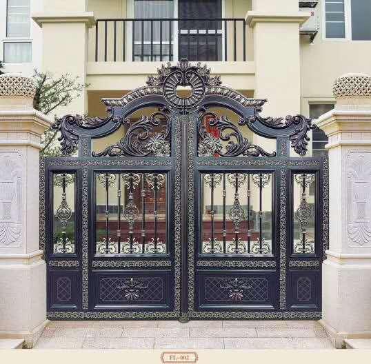 石家庄铝艺门别墅大门庭院大门对开门厂家