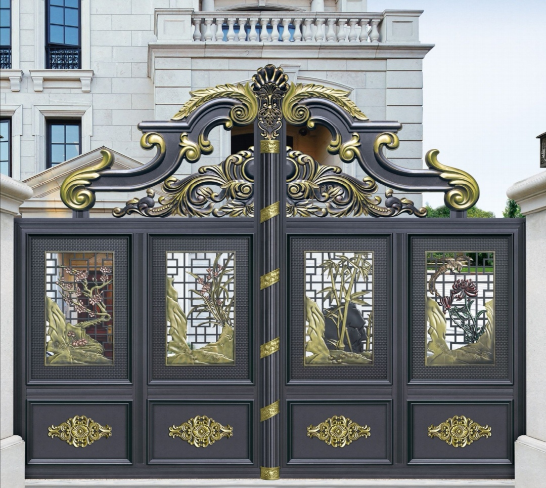 石家庄铝艺悬浮门折叠门平移门对开门厂家直销